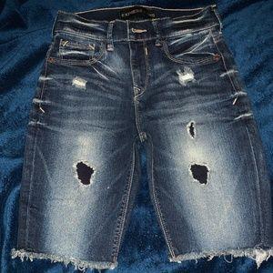 Express Mid-Length Denim Shorts